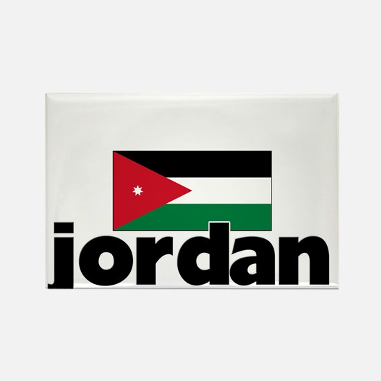 I HEART JORDAN FLAG Rectangle Magnet
