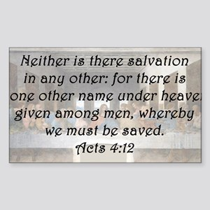 Acts 4:12 Sticker