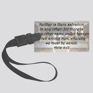 Acts 4:12 Luggage Tag
