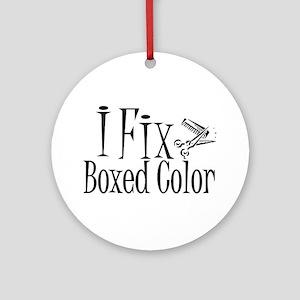 I Fix Boxed Color Ornament (Round)