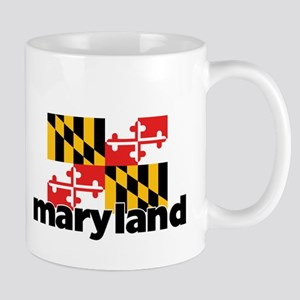 I HEART MARYLAND FLAG Mug