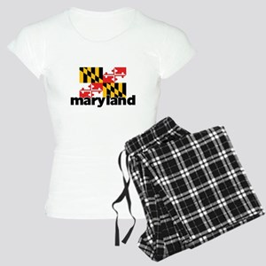 I HEART MARYLAND FLAG Pajamas