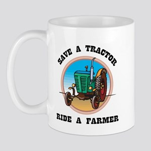 Save a Tractor, Ride a Farmer Mug