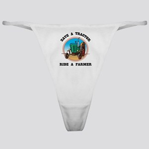 Save a Tractor, Ride a Farmer Classic Thong