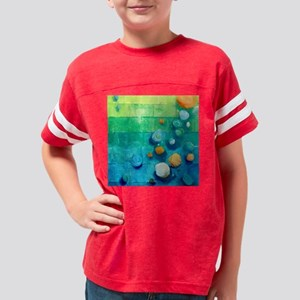 Blue Green Shells Colorful Ab Youth Football Shirt