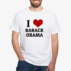 I Love Barack Obama White T-Shirt