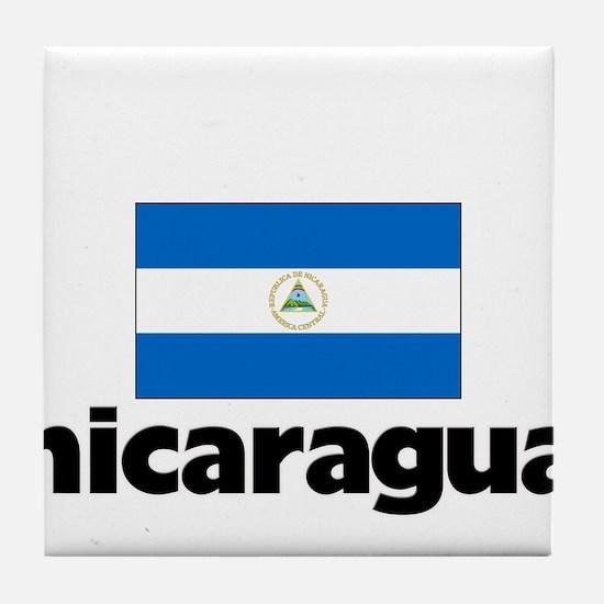 I HEART NICARAGUA FLAG Tile Coaster