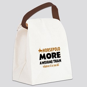Awesome Horseriding designs Canvas Lunch Bag