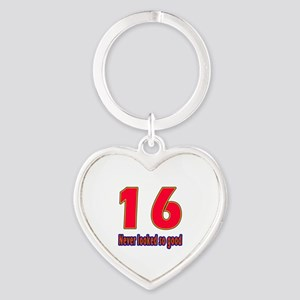 16 Never Looked So Good Heart Keychain