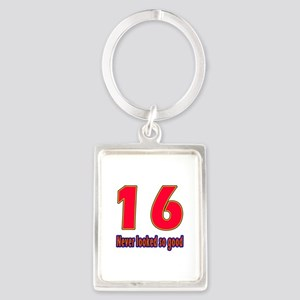 16 Never Looked So Good Portrait Keychain