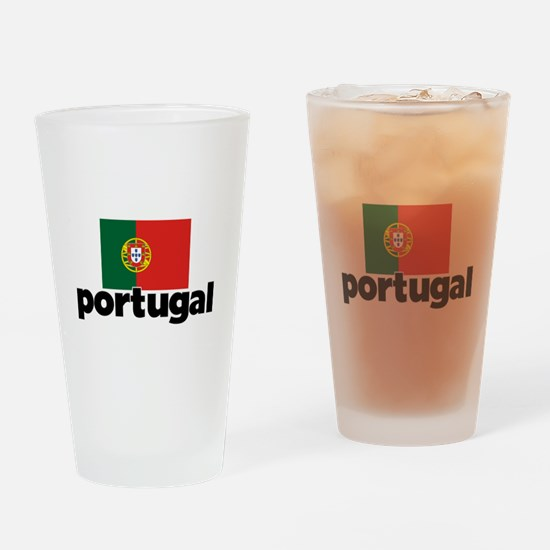 I HEART PORTUGAL FLAG Drinking Glass
