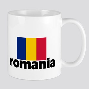 I HEART ROMANIA FLAG Mug