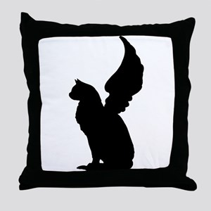 Angel Cat Throw Pillow