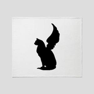 Angel Cat Throw Blanket