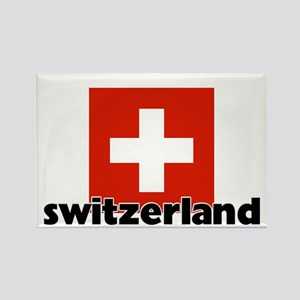 I HEART SWITZERLAND FLAG Rectangle Magnet