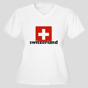 I HEART SWITZERLAND FLAG Plus Size T-Shirt