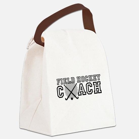 Field Hockey Coach Canvas Lunch Bag
