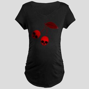 Skull Cherries Maternity Dark T-Shirt