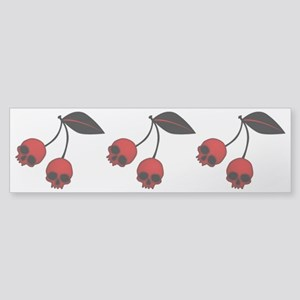 Skull Cherries Sticker (Bumper)