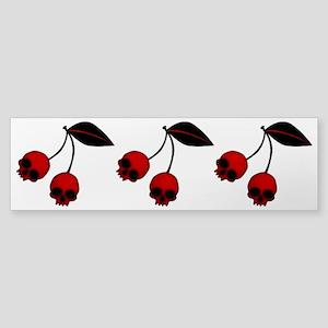 Skull Cherries Sticker (Bumper)