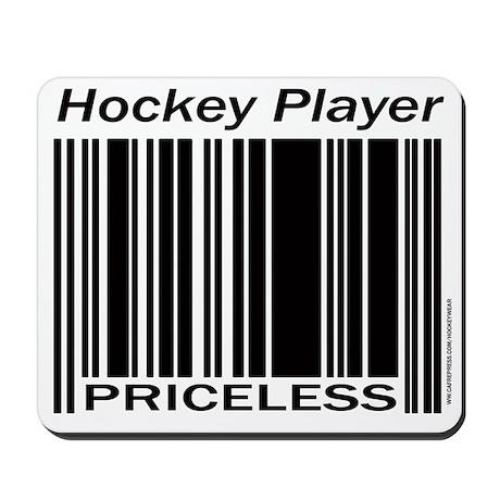 Priceless Hockey Player Mousepad