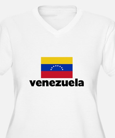 I HEART VENEZUELA FLAG Plus Size T-Shirt
