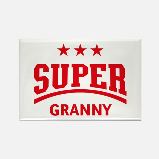 Super Granny (Red) Rectangle Magnet