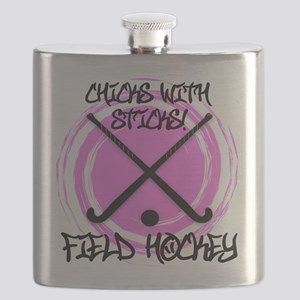 Chicks with Sticks - Field Hockey Flask