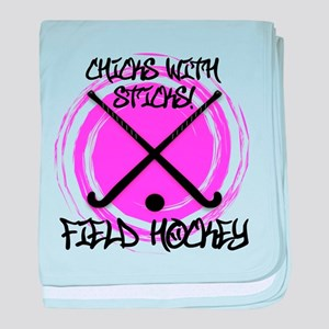 Chicks with Sticks - Field Hockey baby blanket