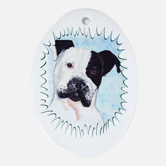 Pitbull Oval Ornament
