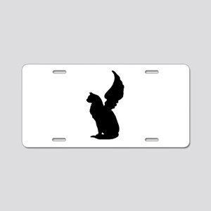 Angel Cat Aluminum License Plate