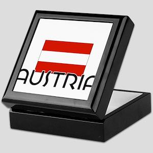 I HEART AUSTRIA FLAG Keepsake Box