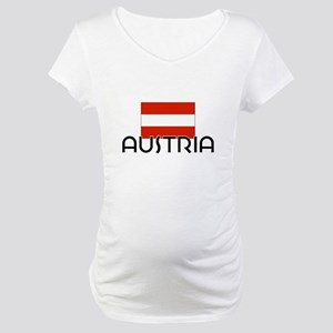 I HEART AUSTRIA FLAG Maternity T-Shirt