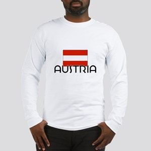 I HEART AUSTRIA FLAG Long Sleeve T-Shirt