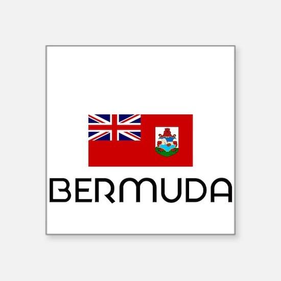 I HEART BERMUDA FLAG Sticker