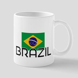 I HEART BRAZIL FLAG Mug