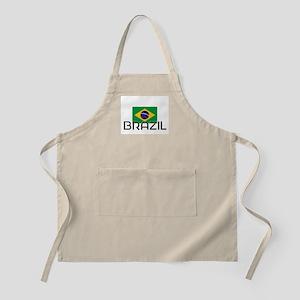 I HEART BRAZIL FLAG Apron