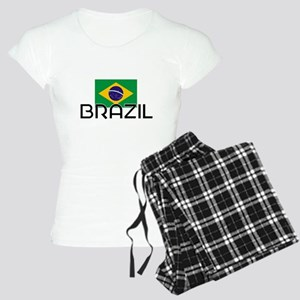 I HEART BRAZIL FLAG Pajamas