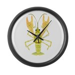 Ozark Spotted Crayfish Large Wall Clock