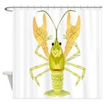 Ozark Spotted Crayfish Shower Curtain