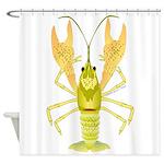 Ozark Spotted Crayfish Shower Curtain