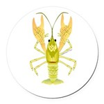 Ozark Spotted Crayfish Round Car Magnet