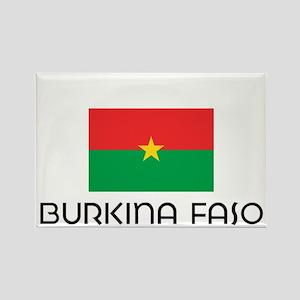 I HEART BURKINA FASO FLAG Rectangle Magnet