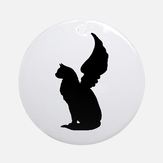 Angel Cat Ornament (Round)