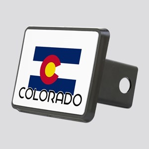 I HEART COLORADO FLAG Hitch Cover