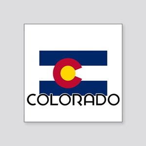 I HEART COLORADO FLAG Sticker