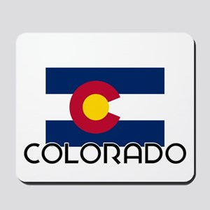 I HEART COLORADO FLAG Mousepad