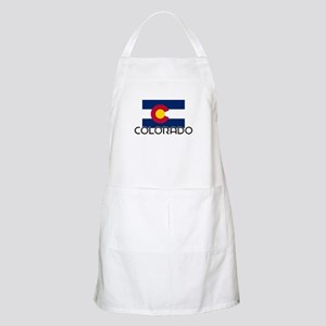 I HEART COLORADO FLAG Apron
