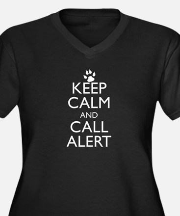 Keep Calm and Call Alert Women's Plus Size V-Neck