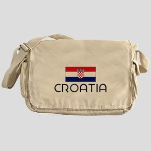I HEART CROATIA FLAG Messenger Bag